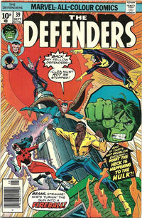 Cover Thumbnail for The Defenders (Marvel, 1972 series) #39 [British]