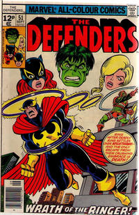 Cover for The Defenders (Marvel, 1972 series) #51 [30¢]