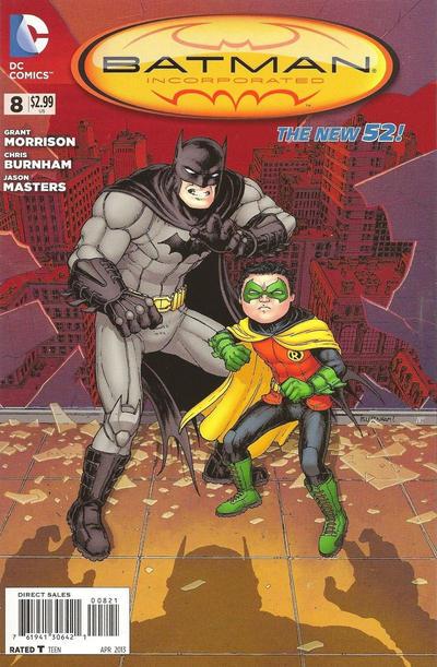 Cover for Batman Incorporated (DC, 2012 series) #8 [Chris Burnham Variant Cover]
