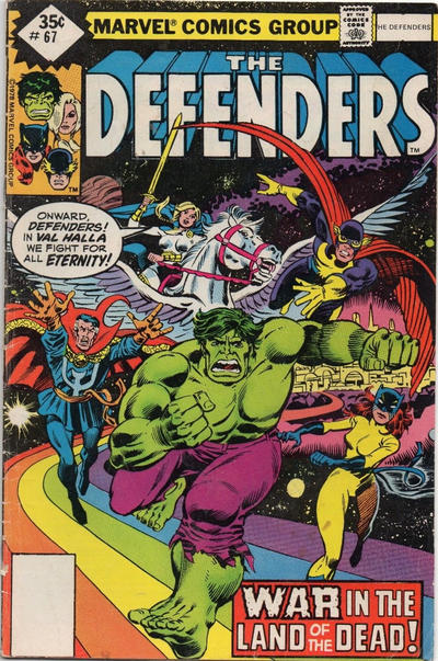 Cover for The Defenders (Marvel, 1972 series) #67 [Whitman]