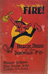 Cover for Fire: Heroic Deeds of the Dingville Fire Department (The Holling Press, 1922 series)