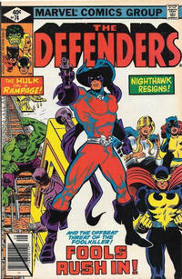 Cover Thumbnail for The Defenders (Marvel, 1972 series) #74 [Direct]