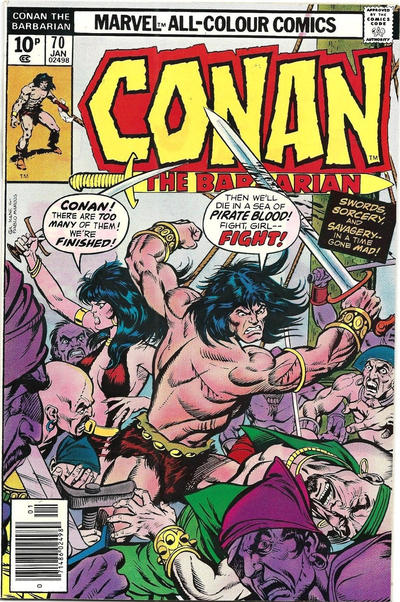 Cover for Conan the Barbarian (Marvel, 1970 series) #70 [Regular Edition]