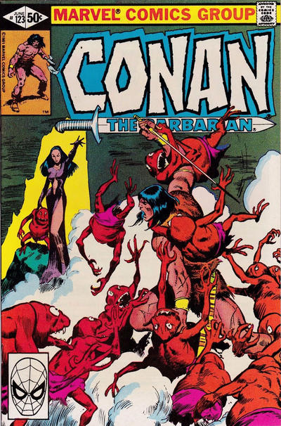 Cover for Conan the Barbarian (Marvel, 1970 series) #123 [Direct Edition]
