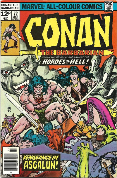 Cover for Conan the Barbarian (Marvel, 1970 series) #72 [Regular Edition]