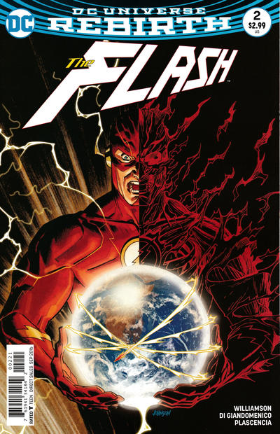 Cover for The Flash (DC, 2016 series) #2 [Karl Kerschl Cover]