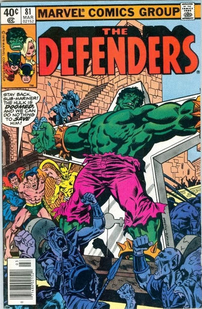 Cover for The Defenders (Marvel, 1972 series) #81 [Direct Edition]