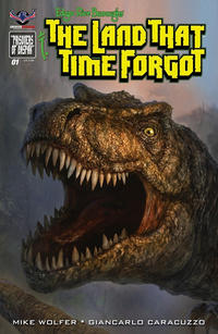Cover Thumbnail for Edgar Rice Burroughs' The Land That Time Forgot (American Mythology Productions, 2016 series) #1 [Painted Subscription Cover]