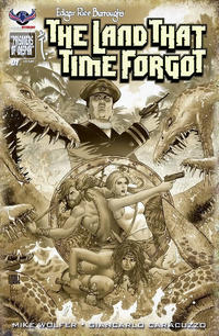 Cover Thumbnail for Edgar Rice Burroughs' The Land That Time Forgot (American Mythology Productions, 2016 series) #1 [Antique Cover]