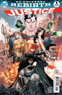 Cover Thumbnail for Justice League (DC, 2016 series) #1 [Tony S. Daniel Cover]