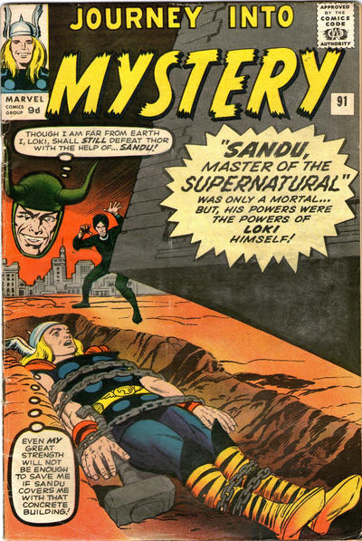 Cover for Journey into Mystery (Marvel, 1952 series) #91 [Regular Edition]