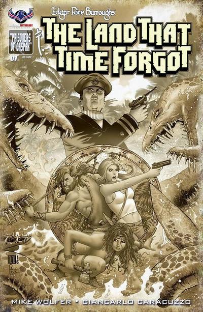 Cover for Edgar Rice Burroughs' The Land That Time Forgot (American Mythology Productions, 2016 series) #1 [Blank Sketch Cover]
