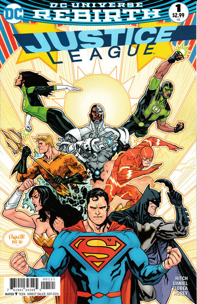 Cover for Justice League (DC, 2016 series) #1 [Tony S. Daniel Cover]