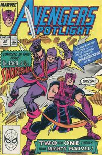 Cover Thumbnail for Avengers Spotlight (Marvel, 1989 series) #22 [Direct]