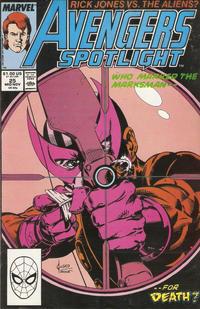 Cover Thumbnail for Avengers Spotlight (Marvel, 1989 series) #25 [Direct]