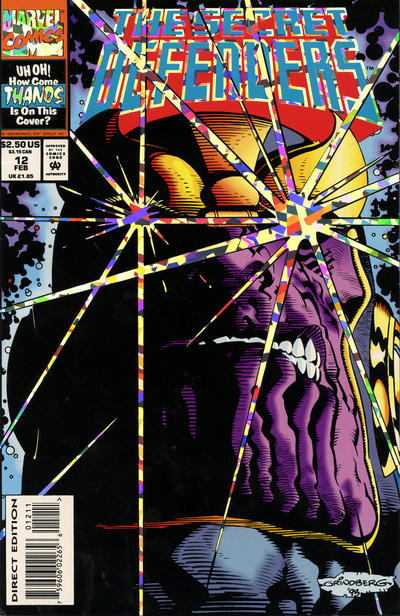 Cover for The Secret Defenders (Marvel, 1993 series) #12 [Newsstand]