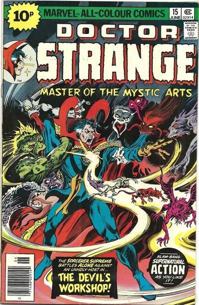 Cover for Doctor Strange (Marvel, 1974 series) #15 [25¢ Cover Price]