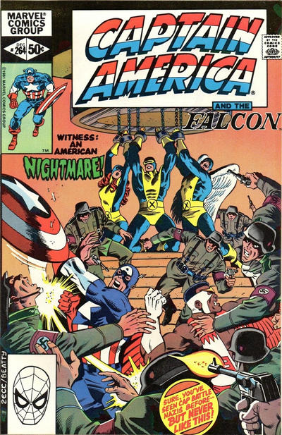 Cover for Captain America (Marvel, 1968 series) #264 [Direct Edition]