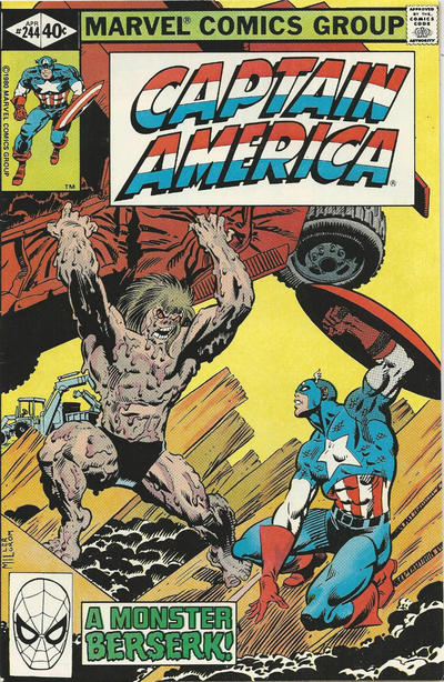 Cover for Captain America (Marvel, 1968 series) #244 [Direct Edition]