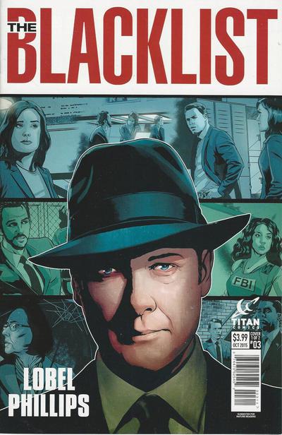 Cover for Blacklist (Titan, 2015 series) #3 [Regular Cover]