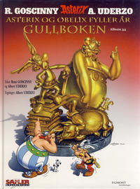 Cover Thumbnail for Asterix [Seriesamlerklubben] (Hjemmet / Egmont, 1998 series) #34 - Asterix og Obelix fyller år - Gullboken