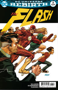 Cover Thumbnail for The Flash (DC, 2016 series) #3 [Dave Johnson Variant Cover]