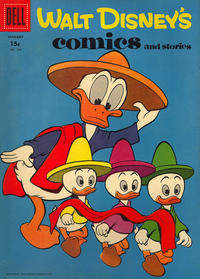 Cover Thumbnail for Walt Disney's Comics and Stories (Dell, 1940 series) #v18#4 (208) [15¢]