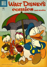 Cover for Walt Disney's Comics and Stories (Dell, 1940 series) #v17#9 (201)