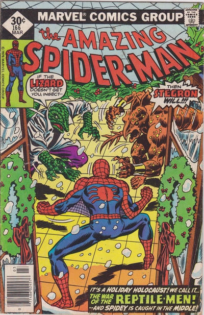 Cover for The Amazing Spider-Man (Marvel, 1963 series) #166 [Newsstand Edition]