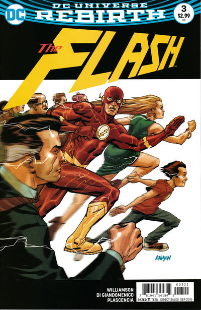 Cover for The Flash (DC, 2016 series) #3 [Dave Johnson Variant Cover]