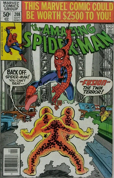 Cover for The Amazing Spider-Man (Marvel, 1963 series) #208 [Direct Edition]