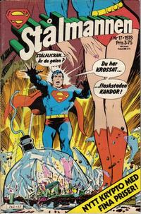 Cover Thumbnail for Stålmannen (Semic, 1976 series) #17/1978
