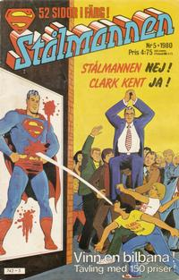 Cover Thumbnail for Stålmannen (Semic, 1976 series) #5/1980