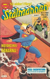 Cover Thumbnail for Stålmannen (Semic, 1976 series) #4/1981