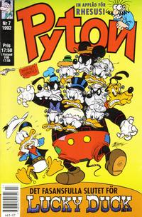 Cover Thumbnail for Pyton (Atlantic Förlags AB, 1990 series) #7/1992