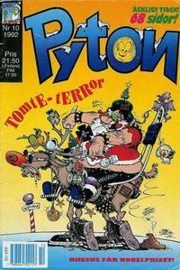 Cover Thumbnail for Pyton (Atlantic Förlags AB, 1990 series) #10/1992