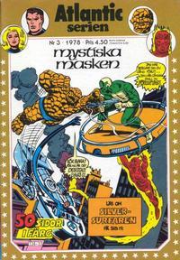 Cover Thumbnail for Atlanticserien (Atlantic Förlags AB, 1978 series) #3/1978