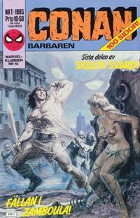 Cover Thumbnail for Conan (Semic, 1984 series) #1/1985