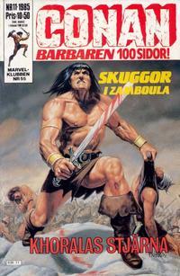 Cover Thumbnail for Conan (Semic, 1984 series) #11/1985