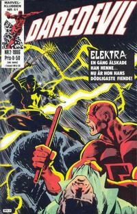 Cover Thumbnail for Daredevil (Semic, 1986 series) #2/1986