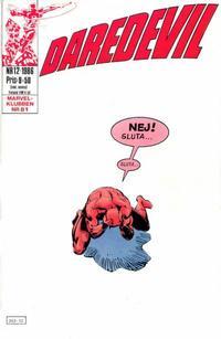 Cover for Daredevil (Semic, 1986 series) #12/1986
