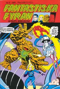 Cover Thumbnail for Fantastiska Fyran (Atlantic Förlags AB, 1980 series) #6/1981