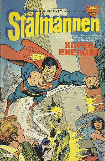 Cover for Stålmannen (Semic, 1976 series) #12/1981