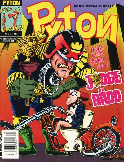 Cover for Pyton (Atlantic Förlags AB, 1990 series) #3/1991