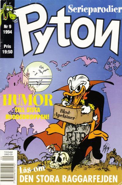 Cover for Pyton (Atlantic Förlags AB, 1990 series) #9/1994