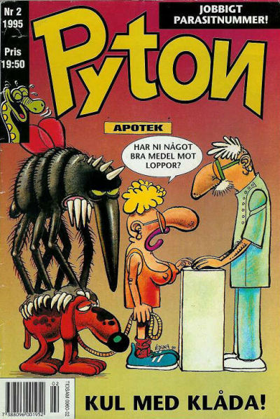 Cover for Pyton (Atlantic Förlags AB, 1990 series) #2/1995