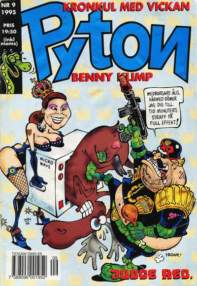 Cover for Pyton (Atlantic Förlags AB, 1990 series) #9/1995