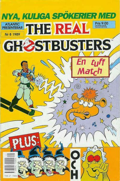 Cover for The Real Ghostbusters (Atlantic Förlags AB, 1988 series) #8/1989