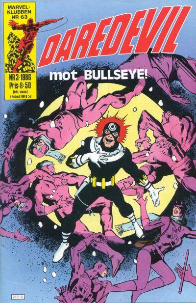 Cover for Daredevil (Semic, 1986 series) #3/1986