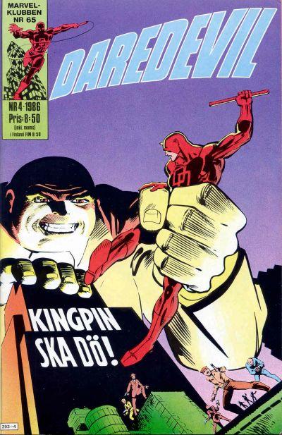 Cover for Daredevil (Semic, 1986 series) #4/1986